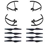 AVAWO Spare Part Accessories Propeller Guards Blades & Propeller Props Protector Set for DJI Tello Quadcopter – Black