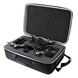 co2crea Hard Travel Case for Holy Stone HS700 FPV Drone 1080p HD Camera Live Video GPS Return Home RC Quadcopter (Black Case -Size 2)