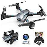 SNAPTAIN A15 Foldable FPV WiFi Drone w/Voice Control/120°Wide-Angle 720P HD Camera/Trajectory Flight/Altitude Hold/G-Sensor/3D Flips/Headless Mode/One Key Return/2 Modular Batteries