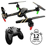 REMOKING RC Drone Racing Quadcopter Headless Mode 2.4GHz 360°flip 4 Channels Altitude Hold Indoor and Outdoor Sport Game Good for Children and Adult as Gifts 12mins Long Flight Time – Black
